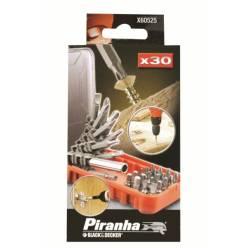 Набор 30 предм., биты, магнитный держатель, удлиняющая направляющая. X60525.