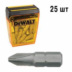 Бита DeWALT Ph2, L=25мм, 25 шт..