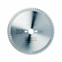 Диск пильний DeWALT, 165х20мм, 48 зубов, угол заточки +5 градусов, геометрия зуба WZ/ATB, чистий рез, для DWS520K.