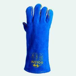 Краги сварочные Doloni (спилковые синие)