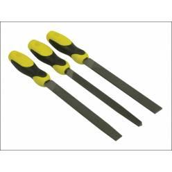 Набор из 3-х напильников 200 мм с личной насечкой (плоский, полукруглый, трехгранный) 0-22-464