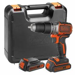 Аккумуляторный бесщеточный шуруповерт Black+Decker BL188KB (ударный)