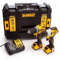 Набор из двух инструментов DeWALT DCK2110L2T (DCD701+DCF801)