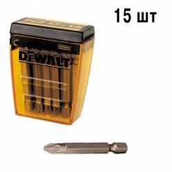 Бита DeWALT Pz2, L=50мм, 15 шт.