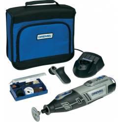 Многофункциональный аккумуляторный Dremel 8200, 1 приставка и 35 насадок