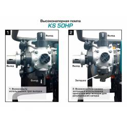 Мотопомпа для чистой воды Konner&Sohnen KS 50HP